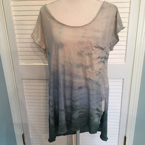Free People Oversized Tee Bleached Open Back